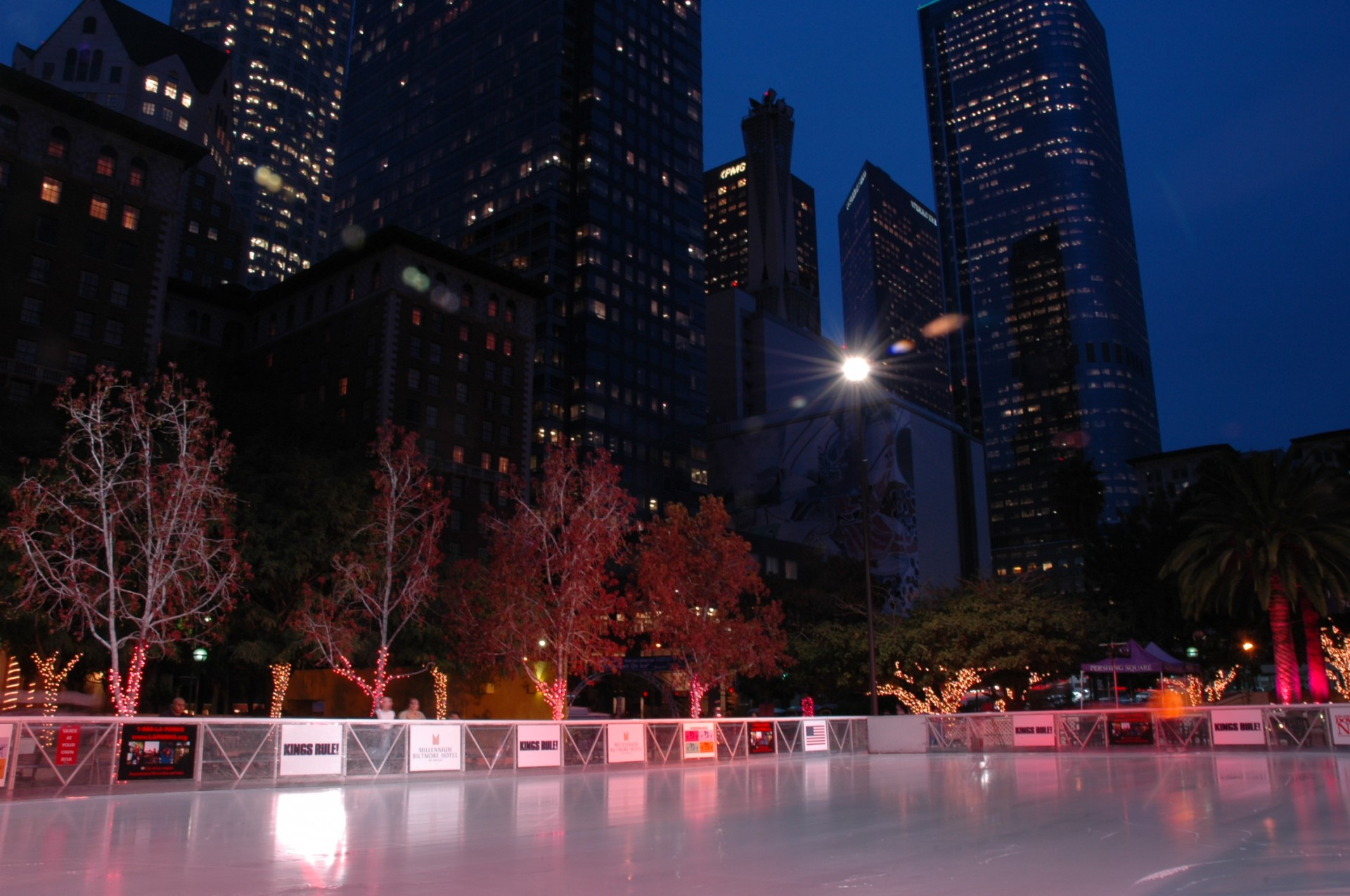 outside ice rink